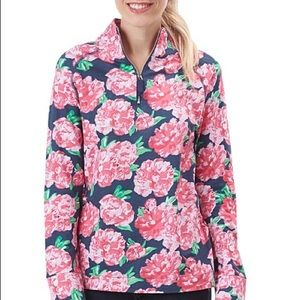 Pink Floral Pullover by Mud Pie